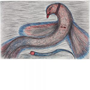 Kashinath Chawan, untitled (bird and snake), undated (circa 2012)