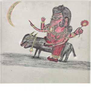 Kashinath Chawan, untitled (Ganesha on an animal), undated