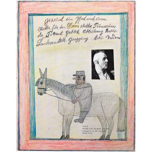 Franz Gableck, Pferd mit Reiter, undated
