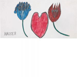 Johann Hauser, Geburtstagskarte, undatiert