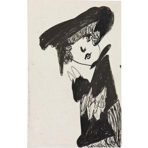 Madge Gill, Head, undated