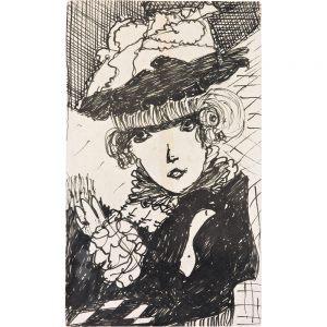 Madge Gill, Head, undatiert