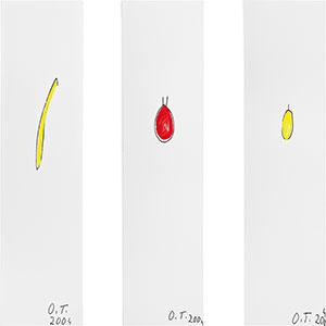 Oswald Tschirtner, Banane, Apfel, Birne, 2004