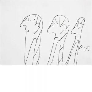Oswald Tschirtner, Drei menschen, 1998