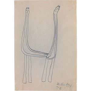 Oswald Tschirtner, Zwei Menschen geben sich die Hand, 1971