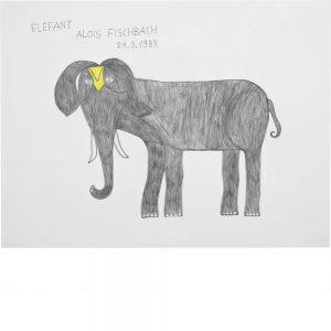 Alois Fischbach, Elefant, 1987