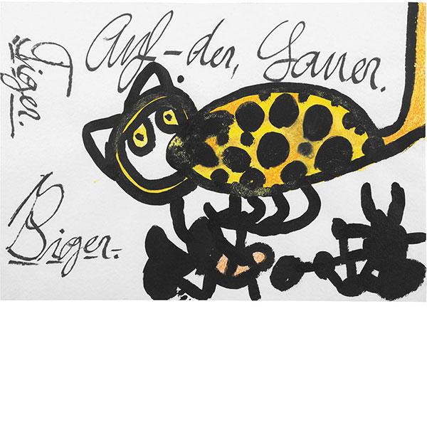 Ida Buchmann, Tiger. Auf-der, Lauer, undated
