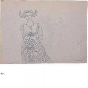 Gertrude Honzatko-Mediz, Gräfin von Burgund 1458, 1912