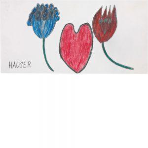 Johann Hauser, Geburtstagskarte, undated